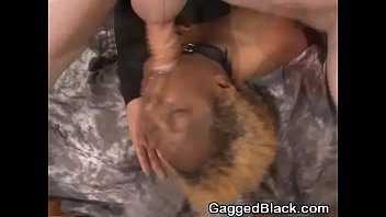 ebony slum litter gasping on milky meatpipe and.