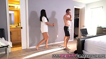 wild step father penetrates stepdaughter behinds his wife039_s back