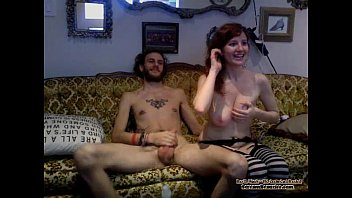 inexperienced web cam red-haired providing head.