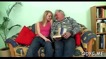 naughty youthfull ultra-cutie gives an elderly stud supah-cute.