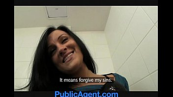 publicagent stunning clair screwing me in the restaurant toilets