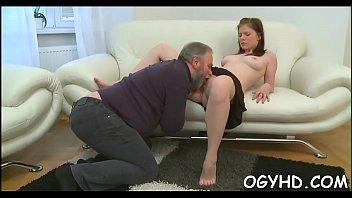 senior plower inserts youthful cock-wringing aperture