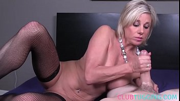 mature inexperienced milking on a rock hard trouser snake