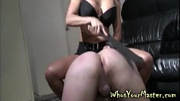 man spanked and plaything smashed by woman dominance wifey