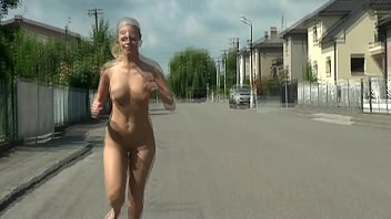 cams4freenet - towheaded exhibitionist running nude
