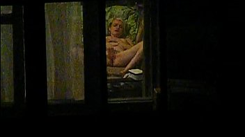 peeping thru the window