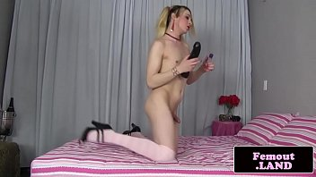 ponytailed very first-timer femboy hotty solo.